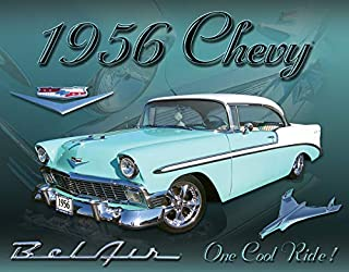 Desperate Enterprises Chevy 1956 Bel Air Tin Sign, 16