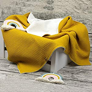 Babydecke bestickt mit Namen Decke Kuscheldecke Teddy Waffelpique Baumwollfleece Krabbeldecke Kinderwagendecke Baby Kind…
