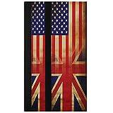 Oarencol Juego de 2 fundas para manija de puerta, diseño vintage de la Unión Americana Jack de la amistad, para nevera, horno y lavavajillas