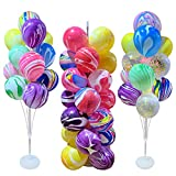 DONGMAI Balloon Holder 11/13/19 Tubes Balloon Stand Balloon Holder Column Agate Balloons Anniversary Birthday Party Decor Christmas Decorations for Home (Color : 2Set 19Tube Stand)