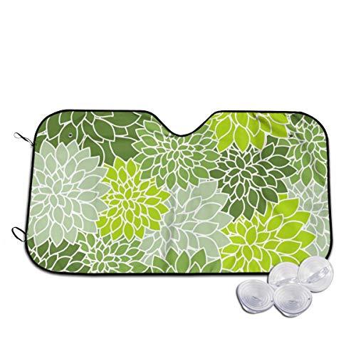 Rterss Floral Green Shade Vintage voorruit zonnescherm vizier voorruit glas voorkomen dat de auto van het verwarmen van binnen op maat
