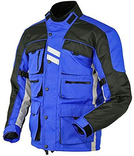 Stilvolle blau Motorradjacke textilien Motorrad Jacke Cordura Motorcycle Jacket, XL, Blau
