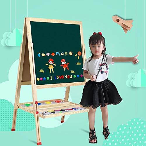 Zhicaikeji Caballete De Arte De Madera para Niños Niños Lateral Doble De Madera Magnética Pizarra Pizarra Caballete con El Borrador para Niños Pequeños Y Niños (Color : Green, Size : 80cm)
