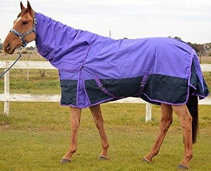RUMANI 1200D 220G Fill Winter Waterproof Turnout Horse Rug & Detachable Neck Set