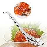 KOET Cuchara de esferificación con 56 agujeros y colador de huevos de caviar, 17 x 4 cm