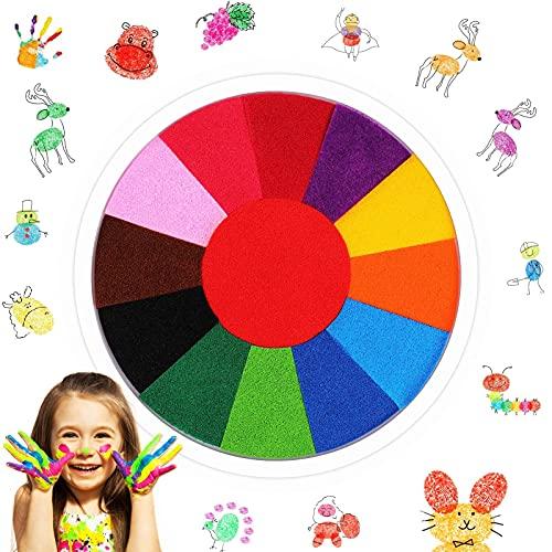 tiopeia Kit de Peinture Drôle de Doigt Jouets de Dessin de Doigt Peinture Enfant Lavable Non Toxique Ensemble de Peinture pour Enfants Jouet éducatif 13 Couleurs