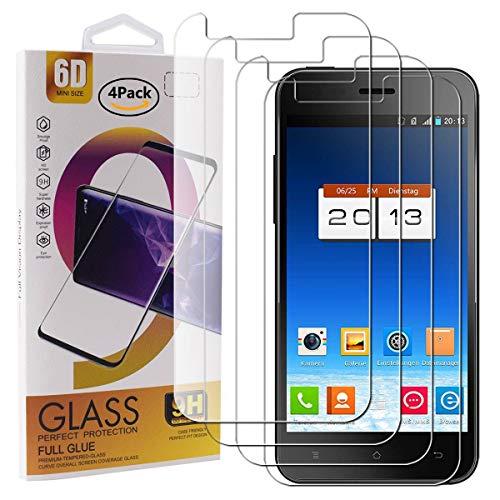 Guran 4 Stück GEH?rtetes Glas Displayschutzfolie für Phicomm X100 Smartphone mit 9H H?RTE Panzerglasfolie Anti-Kratzer HD Klar Schutzfolie Film