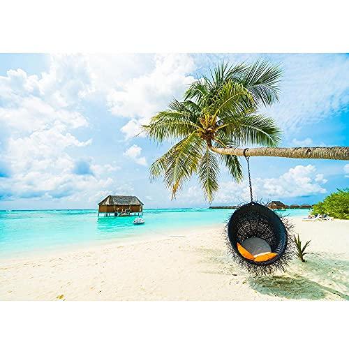 Fondos de fotografía de Cielo Azul mar Playa para Estudio fotográfico Fondos de Tela Retrato de Boda niños bebé fotomatón A11 2,1x1,5 m