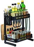Sorbus 2-Tier Kitchen Spice Rack Utensil Holder, Countertop Freestanding Shelf Organizer for Jars