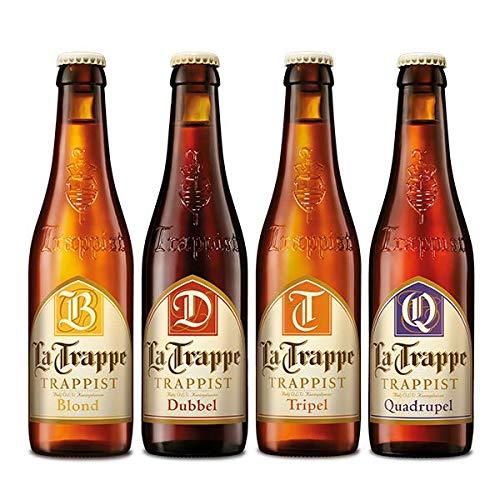 LA TRAPPE Mix pack, Verschiedene Trappistenbiere aus Berkel-Enschot, Blond, Dubbel, Tripel, Quadrupel, 12x 0,33 Liter