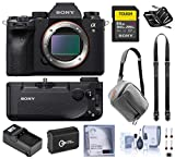 Sony Alpha a9 II Mirrorless Digital Camera Body, 24.2MP Full Frame ILCE9M2/B Bundle with Battery Grip, 64GB SD Card, Bag, Battery, Smart Charger and Accessories