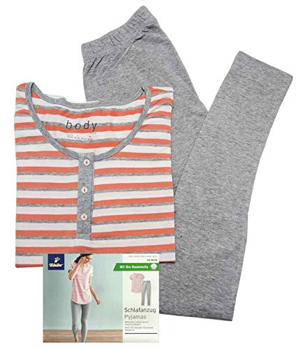 TCM Tchibo Damen Schlafanzug mit 7/8 Leggings (32/34 XS)