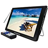 Trexonic Ultra Lightweight Rechargeable 12' LED TV With HDMI, SD, MMC, USB, VGA, Headphone Jack, AV Inputs and Output And Built-in Digital Tuner