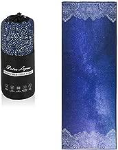Patas Lague Luxury Yoga Towel with Corner Pockets Design,100% Absorbent Microfiber,Non Slip Yoga Mat Towel for Hot Yoga, Pilates and Fitness (Bule Sky,72