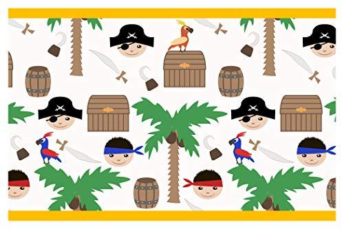 dekodino Kinderzimmer Bordüre Borte Piraten Seeräuber Tapete Kinder selbstklebend