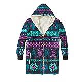 Neon Color Tribal Navajo Seamless Pattern No.15658,Warm?Men Hoodies,Sweatshirt Winter for?Adult?Warm,XXL
