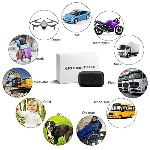 LMHOME Mini GPS localizador de rastreo de perro y gato para mascotas de 28 lb, impermeable, IP67, monitor de actividad en tiempo real, dispositivo de seguimiento de posicionamiento con collar
