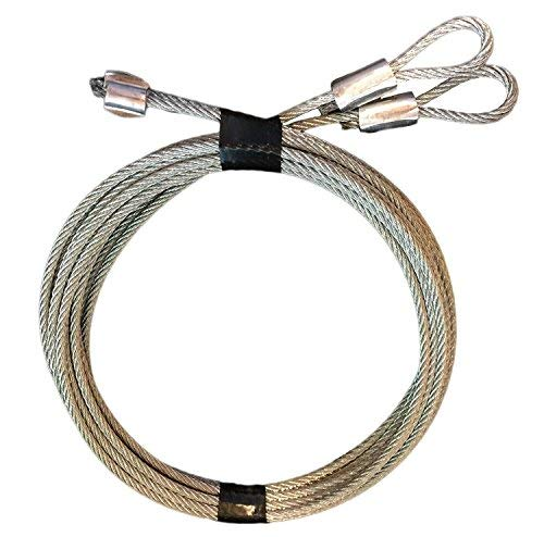 Set of 4 Protech Garage Doors - Pair of 7' Garage Door Cable Replacement for Torsion Springs/Lift Spring - Heavy Duty