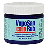 Vapo San Cold Rub Decongestant Vaporizing Action 2oz