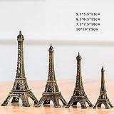 hacpigbb Estatua De La Torre Eiffel Modelo De Edificio De Fama Mundial Decoración De Artesanía Moderna Simple Centro De Bodas De Oficina De Escultura Art Deco O como Regalo - 25.18.15.13Cm