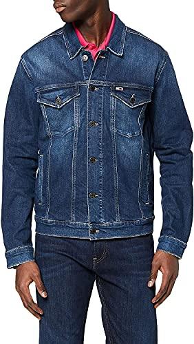 Tommy Hilfiger Regular Trucker Jacket Dvdk Chaqueta, Azul (Devi Dk Bl Co 1a4), Small para Hombre