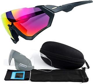 BAN SHUI JU MINSU GUANLI - BAN SHUI JU MINSU GUANLI Espejo De Ciclismo, Espejo Polarizado For Deportes Al Aire Libre, Tres Piezas, Gafas De Sol Juventud Y Elegancia (Color : 1)