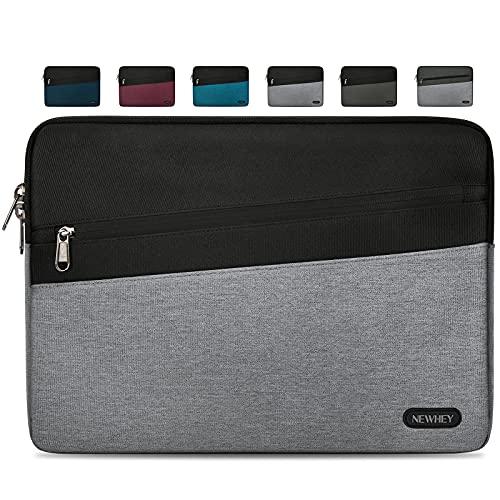 NEWHEY Funda Portatil 14 Pulgadas Impermeable Moda Funda Ordenador Blandas Laptop Protectora Prueba Golpes Compatible con Macbook Air / Pro 14 Pulgadas, HP, DELL, Lenovo Gris Claro