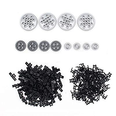 Blocks Technic Parts Tank Track Wheels Treads Chain Links Motorcycle Car Accessories Toys for Kids Technic Bulk Building Bricks Compatible with Major Brands (212 Pcs Tank Track)