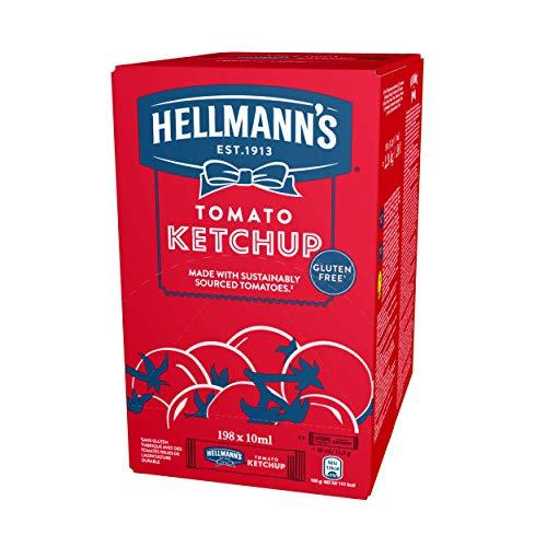 Hellmann's salsa Ketchup Sin Gluten - caja con 198 Monoporciones de 10 ml