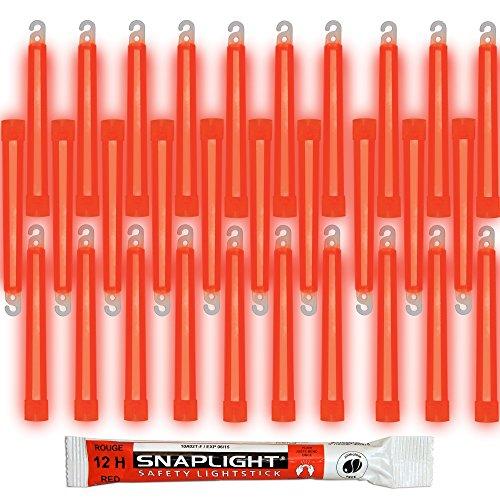 Cyalume SnapLight Rouge 15cm Bâton Lumineux Glow Stick Light Stick Fluorescent Durée 12 heures (Boîte de 30)