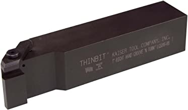 THINBIT 3 Pack LGTF093D27504 0.093 Width 0.233 Depth 0.750 Major Diameter Cast Iron and Stainless Steel with Interrupted Cuts Uncoated Carbide Face Grooving Insert for Steel Sharp Corner
