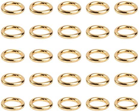 NBEADS 500pcs Stainless Steel Gold Open Jump Rings Connectors Jewelry Findings for Jewelry Making product image