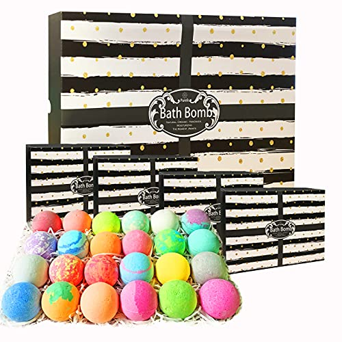 Aromatherapy Bath Bomb Gift Set.24 Individually Wrapped Bath Bombs...