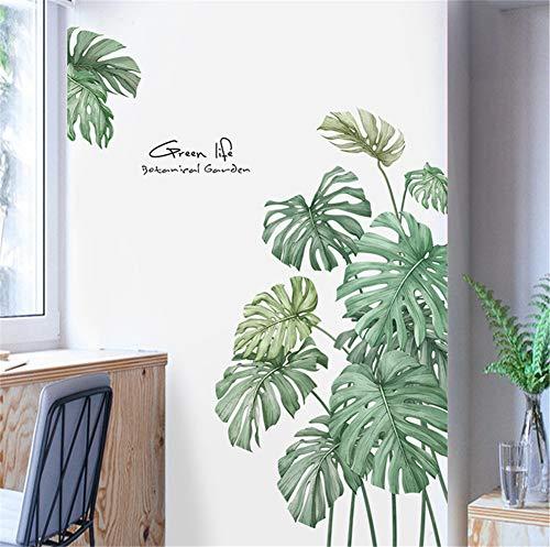 Martin Kench Wandtattoo Wandsticker Groß Palme Blätter Grün Wanddeko für Wohnzimmer Schlafzimmer Flur Kühlschrank (Stil B)