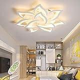 Lampada da soffitto a LED, dimmerabile, per soggiorno con telecomando per cambiare colore, moderna