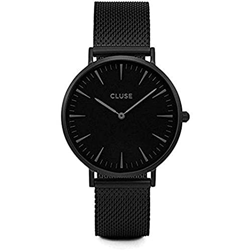 CLUSE La Bohème Mesh Full Black CL18111 Womens Watch 38mm Stainless Steel Strap Minimalistic Design Casual