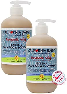 California Baby Eczema Shampoo and Body Wash (Therapeutic Relief) Skin Protectant for Hair, Face, Body | Organic Oatmeal a...