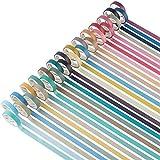 YUBX 28 Rollo Flaco Washi Tape Set Masking Tape cinta adhesiva decorativa Washi Glitter Adhesivo (Nature 28)