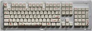 Keycap Mechanical Keyboard Cap PBT Keycap 104 Key Type Keycap Korean Translucent Backlit Mechanical Keycap (Colore : Anime...