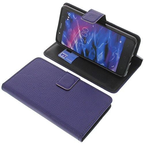 foto-kontor Tasche für MEDION Life S5004 Book Style blau Schutz Hülle Buch
