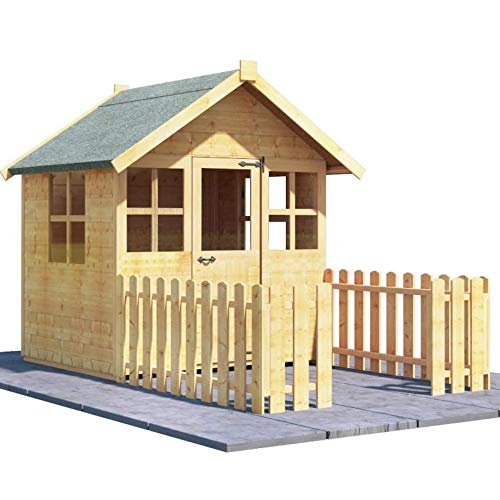 BillyOh 4x4 Bunny Max Wooden Playhouse (4x4 with Picket Fence)