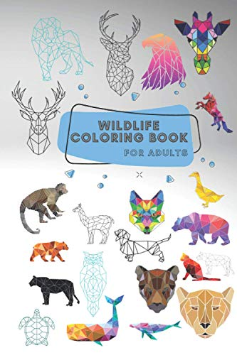 Wildlife Coloring Book for Adults: 63 Geometric Animal Designs
