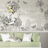 RoomMates JL1383M Disney Fairies - Vintage Tinkerbell Water Activated Removable Wallpaper Mural - 10.5 ft. x 6 ft.