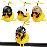 AFASOES 4pcs Duck Bike Bell Kids Bike Horn Novelty Helmet Rubber Yellow Duck Bicycle Accessories 4 Styles Bicycle Handlebar Bell for Kids Toddler Children Adults Sport Outdoor