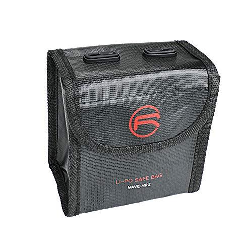 1/2/3 Pocket Lipo Battery Bag Fireproof Safe Explosionssicherer für DJI Mavic Air 2 Feuerfest Explosionsgeschützt Lipo Schutztasche Batterie Safe Tasche Hülse Akku Sicherheit Tasche (Für 2 Batterien)
