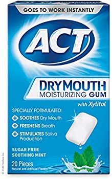 20-CountAct Dry Mouth Moisturizing Sugar-Free Gum with Xylitol