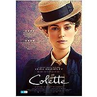 コレット(2018)-キーラナイトレイ主演映画ポスターキャンバスプリントウォールアートデコレーション画像モダンルームデコレーション-50x70cmフレームなし