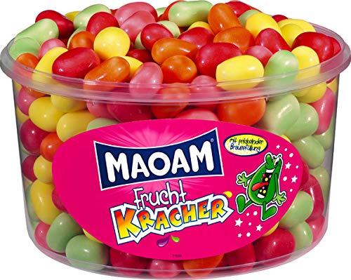 Maoam Haribo Frucht Kracher- Kaubonbons - Dose mit 1200 Gramm