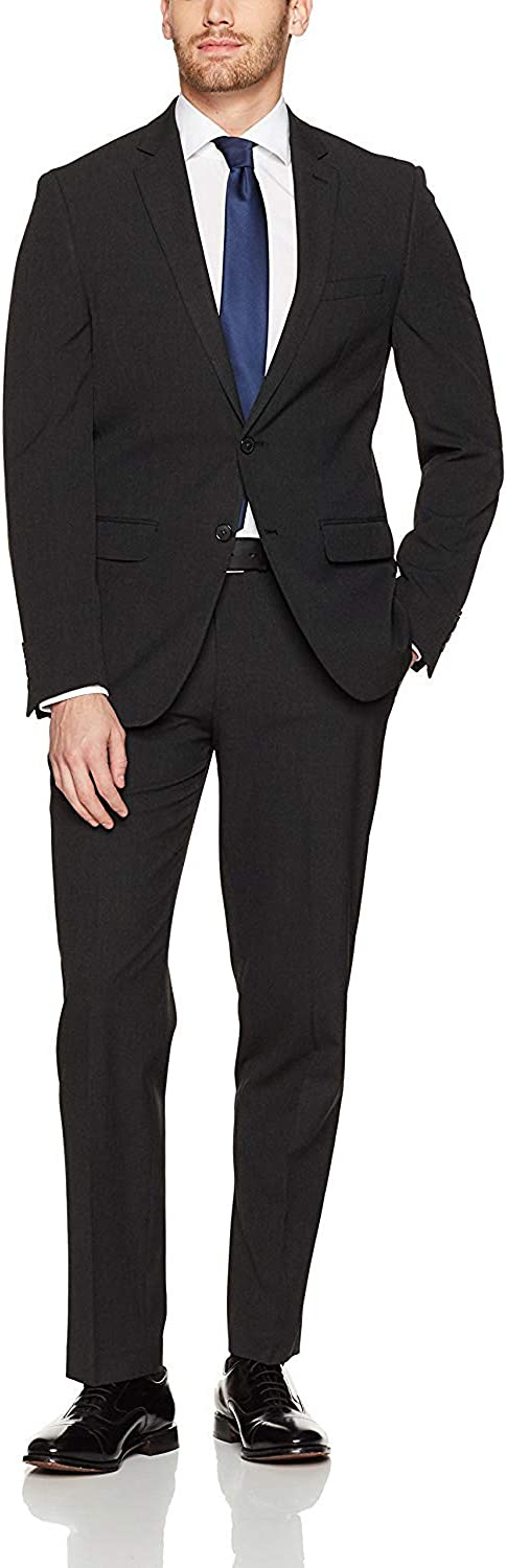 Marzzotti Mens Suit Gianni Two Button Jacket Flat Front Pants Shadow Stripe