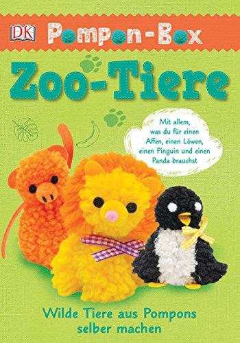 Pompon-Box Zoo-Tiere: Wilde Tiere aus Pompons selber machen